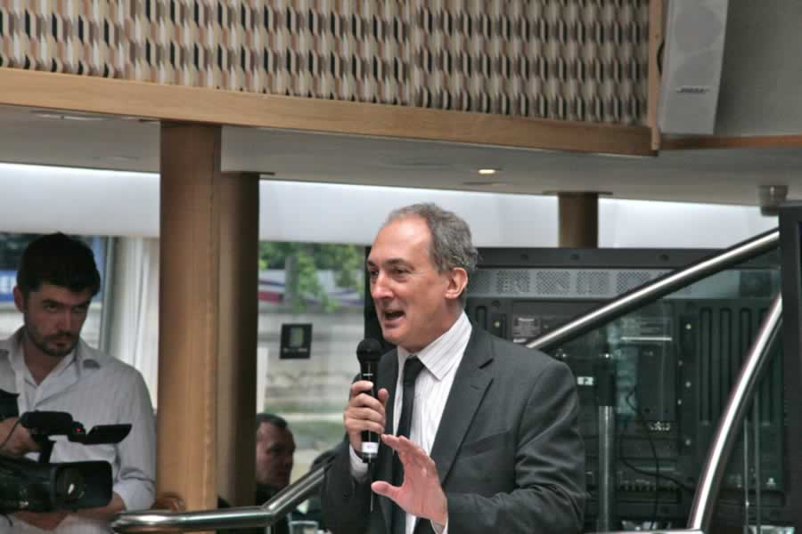 MP Mike Weatherley speaks at the offical launch