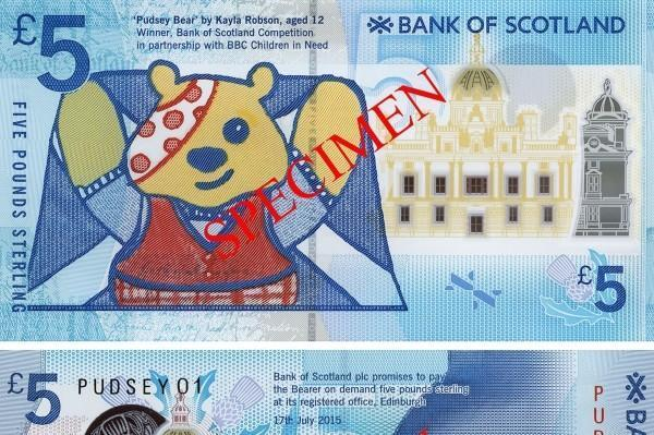 Bank of Scotland first polymer banknote