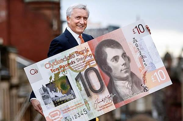 David Duffy and the new Clydesdale £10